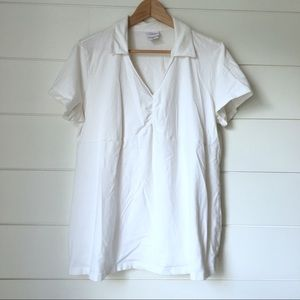 OH BABY White Maternity Polo